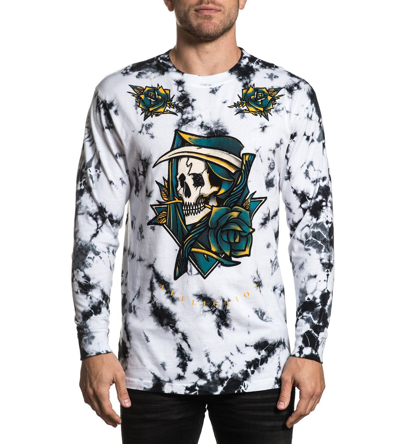 Laid To Rest - Mens Long Sleeve Tees - Affliction Clothing
