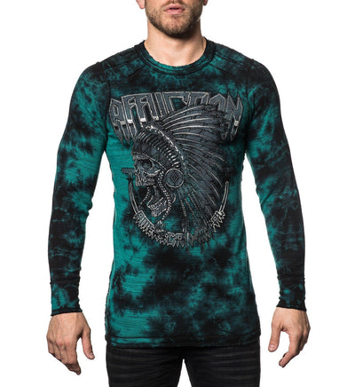 Last Stand Tour - Reversible - Mens Long Sleeve Tees - Affliction Clothing