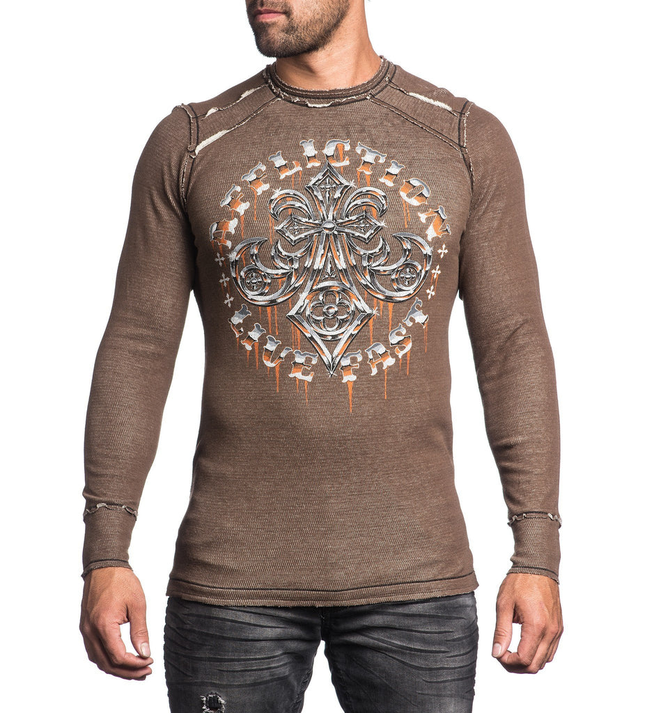 Mens Long Sleeve Tees - Royal Lord Chrome