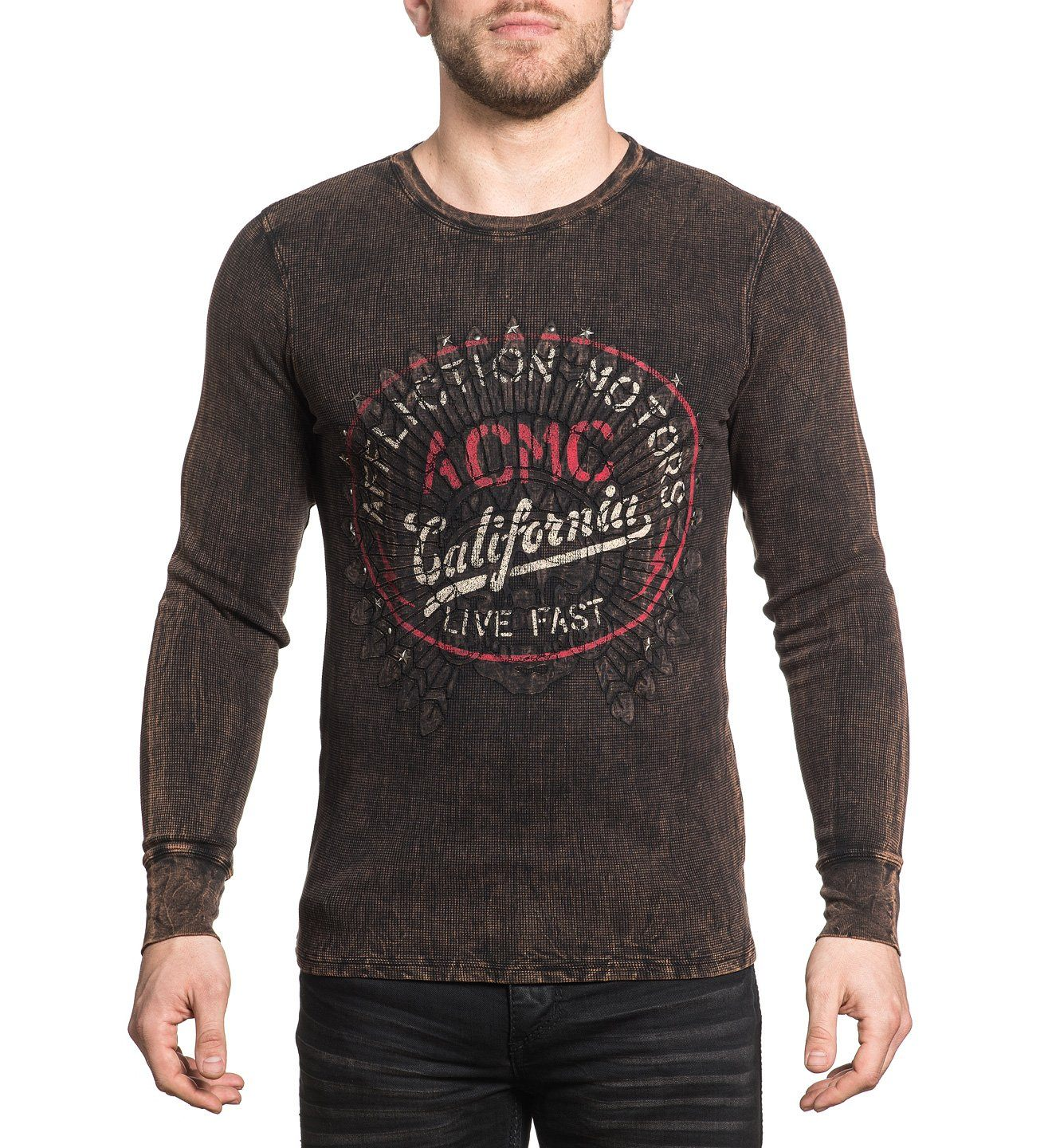 Screamin Eagle - Mens Long Sleeve Tees - Affliction Clothing
