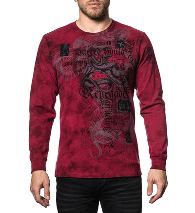 Snake Bite - Mens Long Sleeve Tees - Affliction Clothing