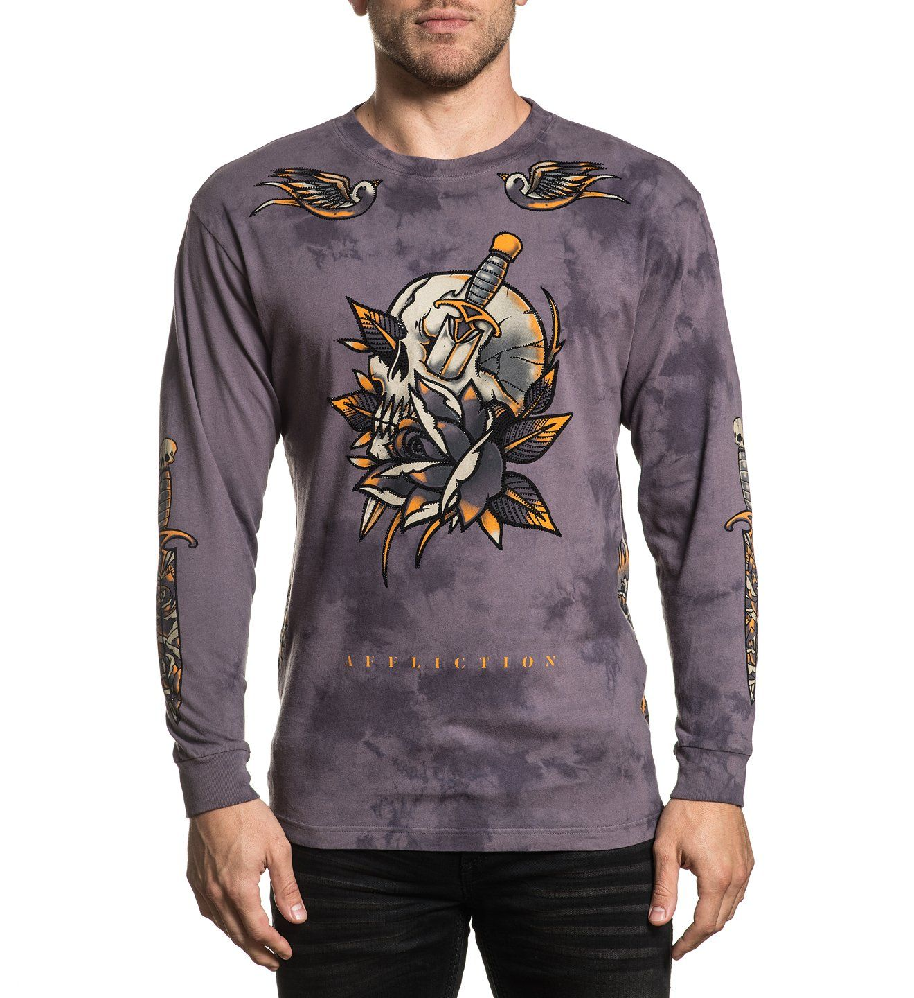 Soul Sacrifice - Mens Long Sleeve Tees - Affliction Clothing