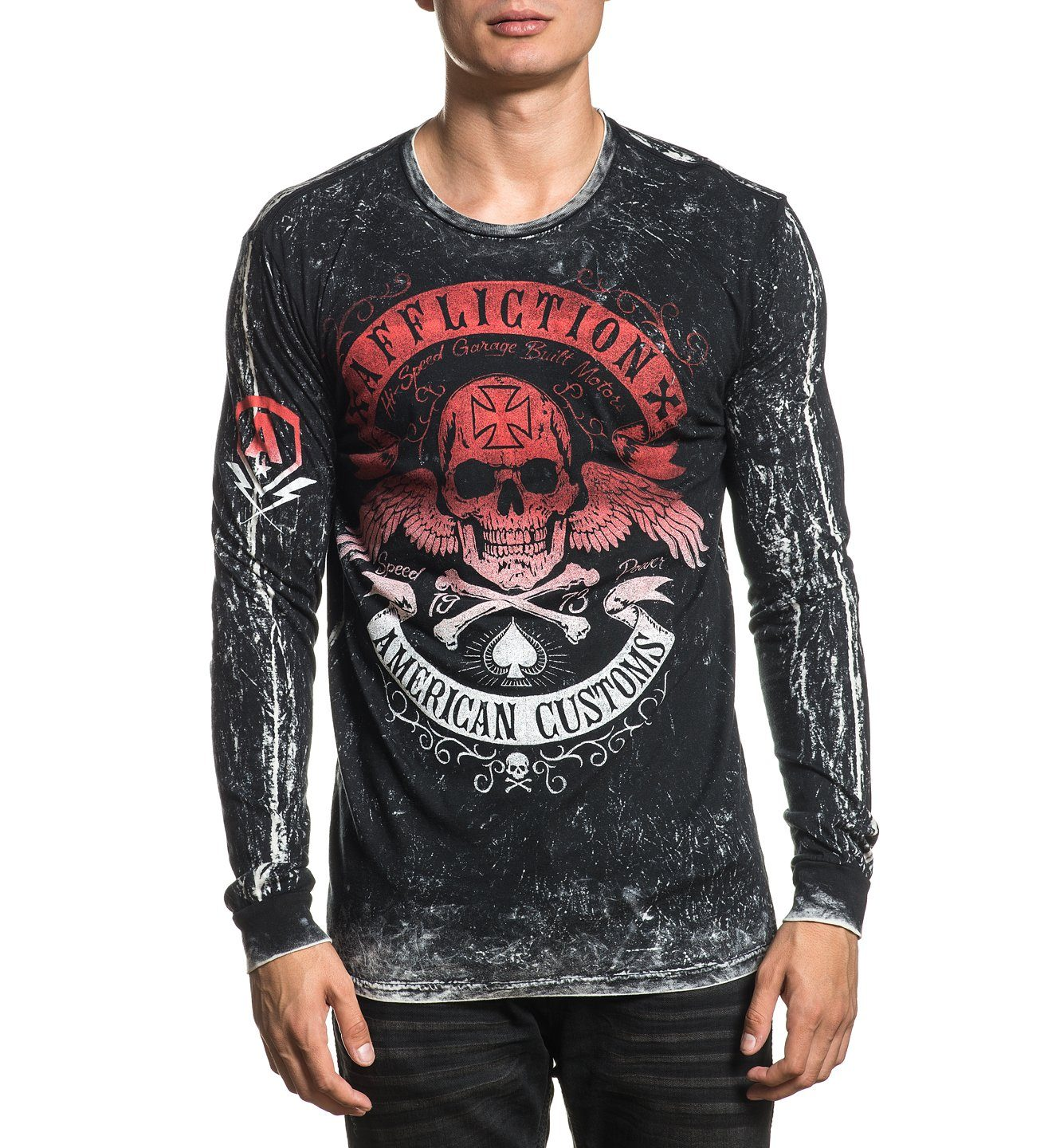 Mens Long Sleeve Tees - Speed Run