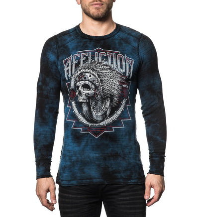 Spiker Impact - Reversible - Mens Long Sleeve Tees - Affliction Clothing
