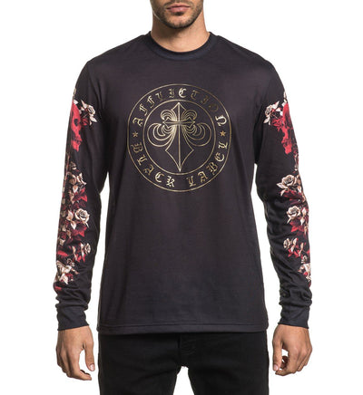 Spine - Mens Long Sleeve Tees - Affliction Clothing