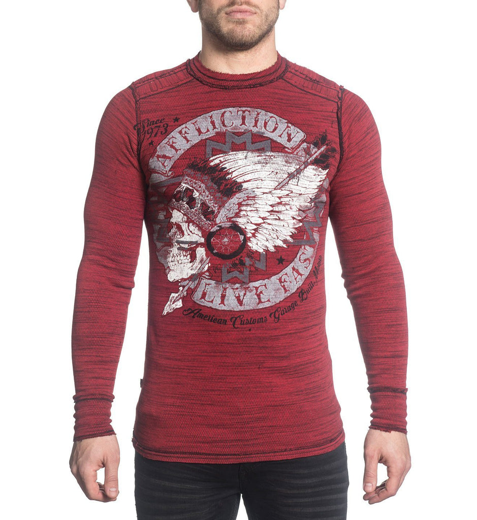 Mens Long Sleeve Tees - Truth & Consequence - Reversible