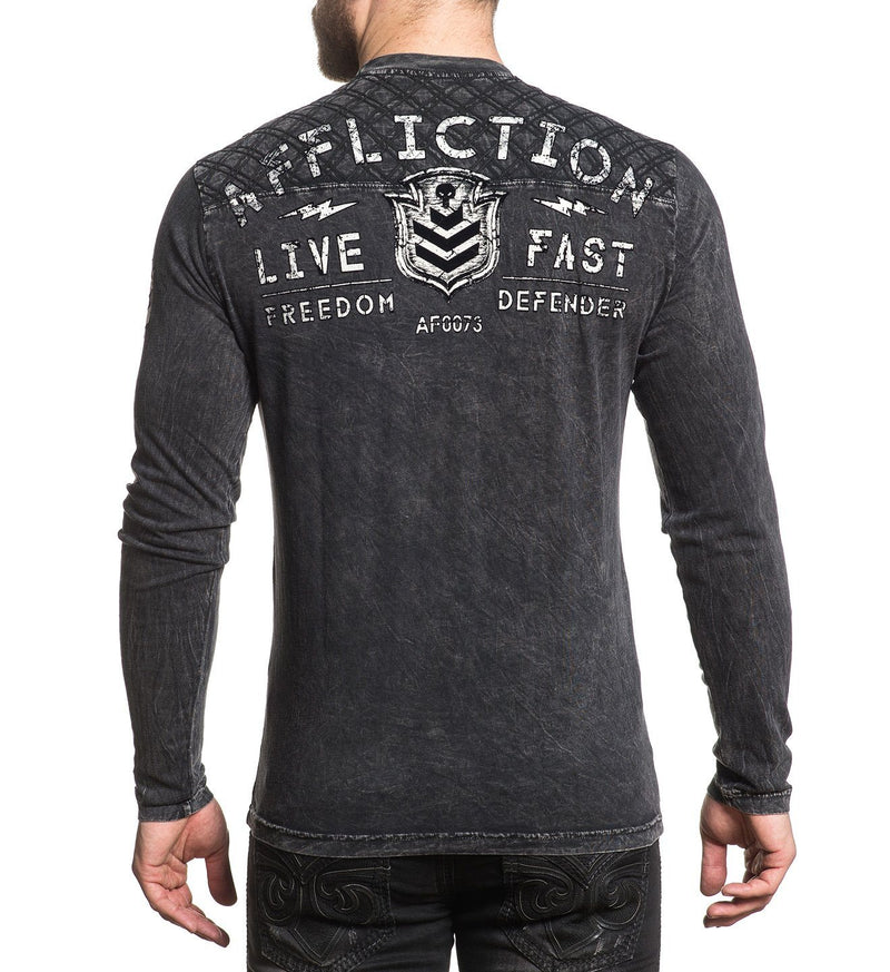 Value Freedom - Mens Long Sleeve Tees - Affliction Clothing