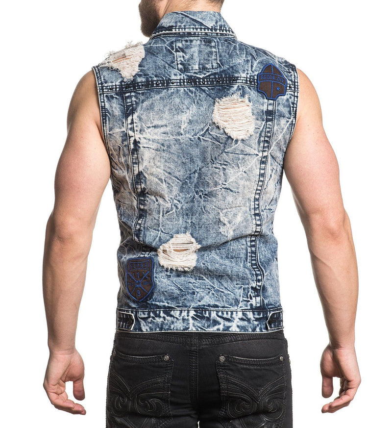 Gauntlet Trucker Vest - Mens Polo And Woven Tops - Affliction Clothing