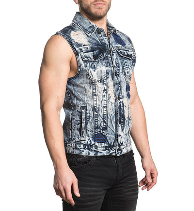 Mens Polo And Woven Tops - Gauntlet Trucker Vest