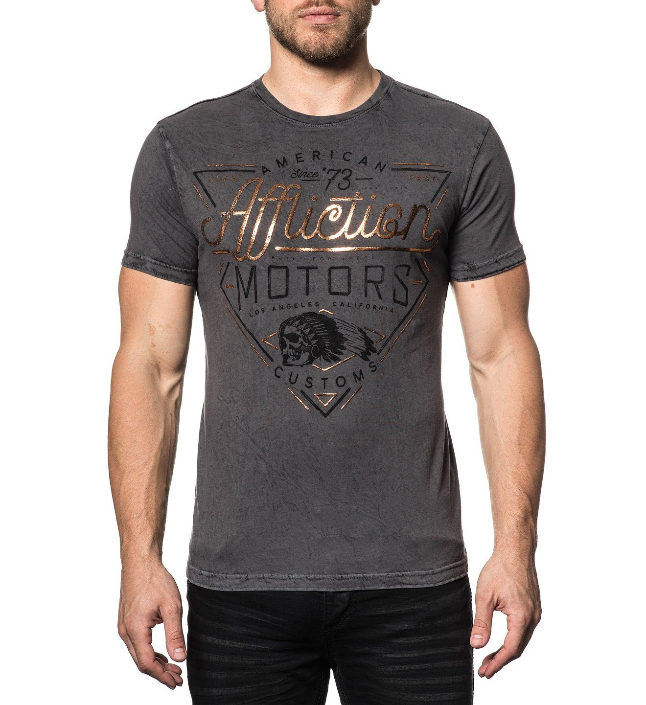 Ac Cali Motors - Reversible - Mens Short Sleeve Tees - Affliction Clothing