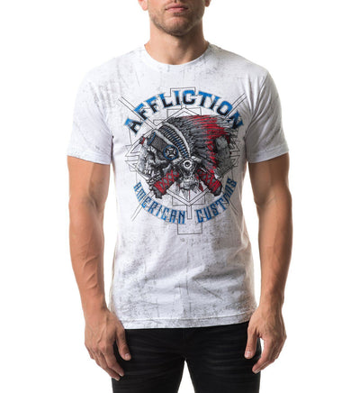 Ac Wyoming - Mens Short Sleeve Tees - Affliction Clothing
