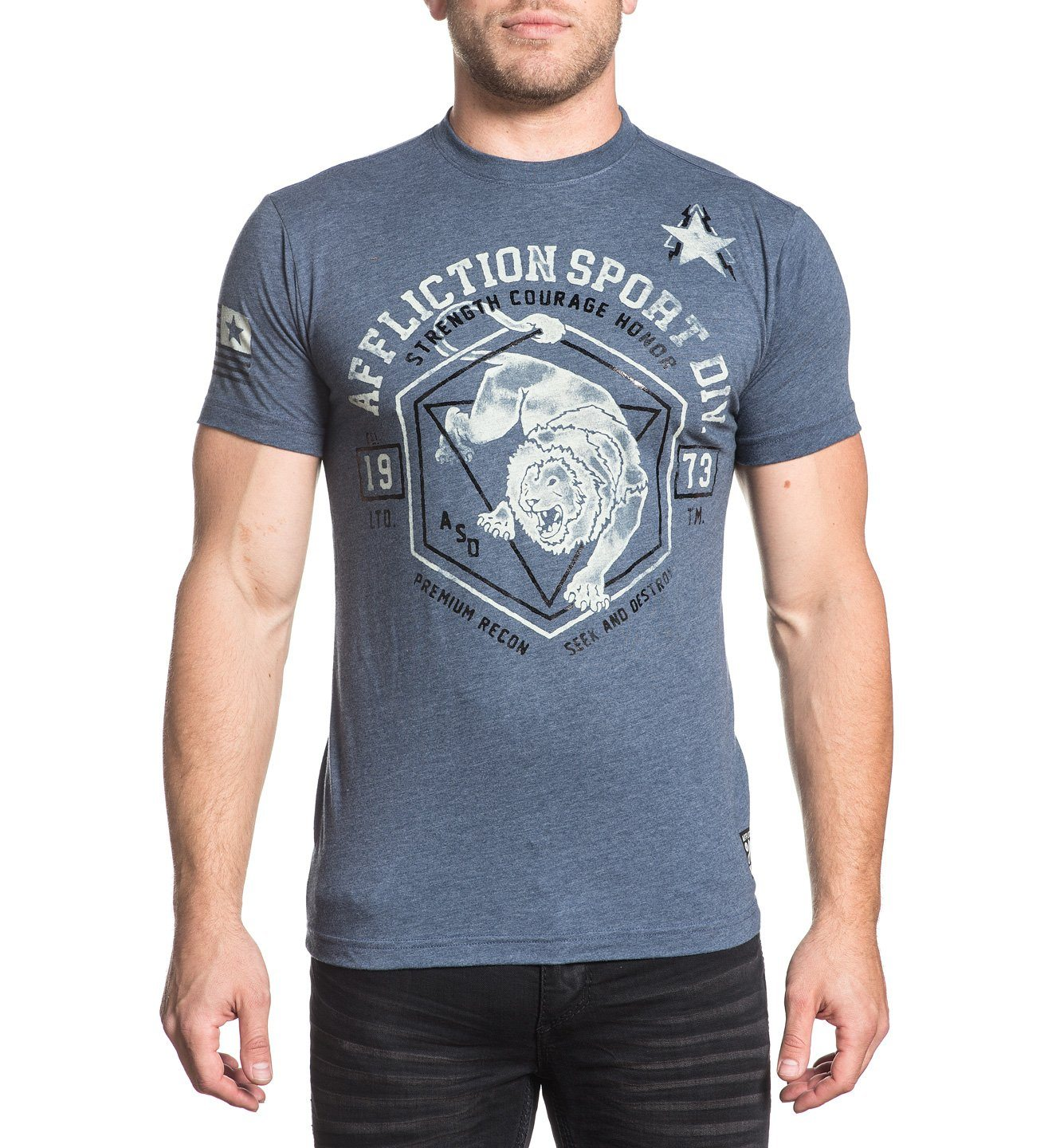 Animal Instinct - Mens Short Sleeve Tees - Affliction Clothing