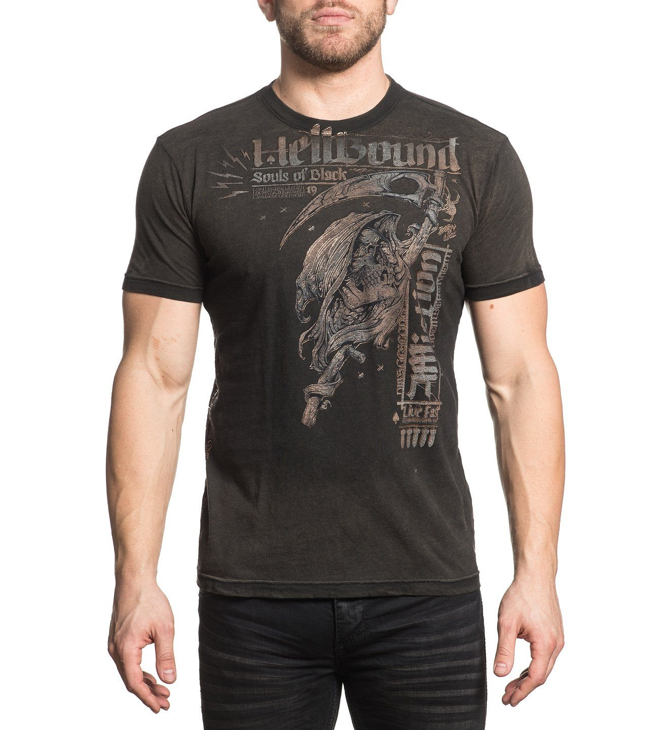 Black Sun - Mens Short Sleeve Tees - Affliction Clothing