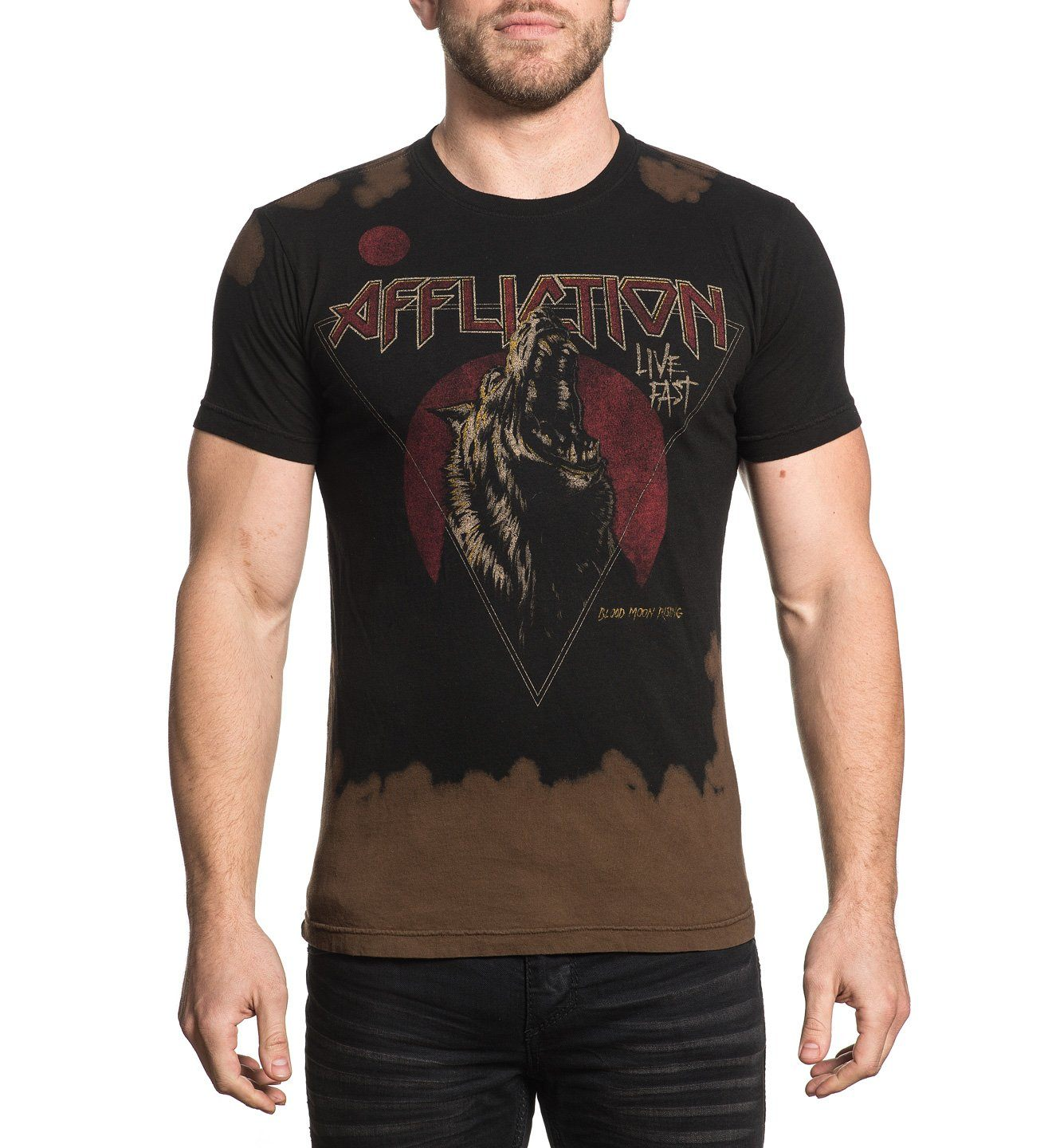 Blood Moon - Reversible - Mens Short Sleeve Tees - Affliction Clothing