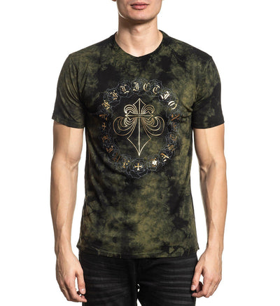 Circle Of Roses - Mens Short Sleeve Tees - Affliction Clothing