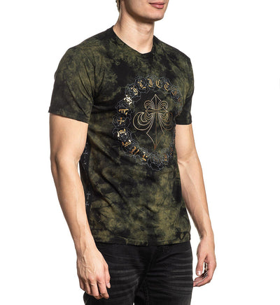 Mens Short Sleeve Tees - Circle Of Roses