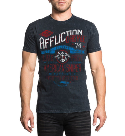 Ck Crosshairs - Mens Short Sleeve Tees - Affliction Clothing