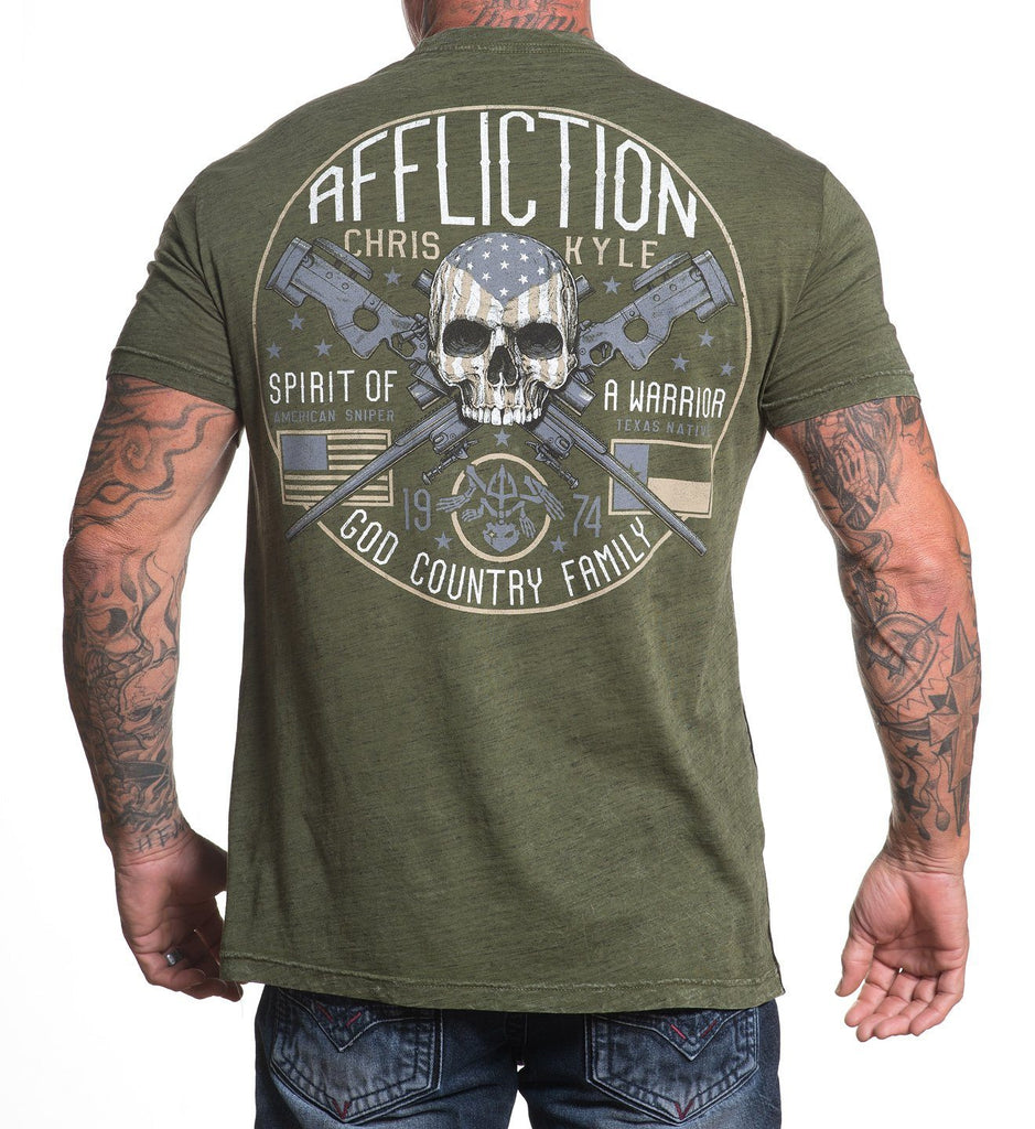 Mens Short Sleeve Tees - CK Warrior Spirit