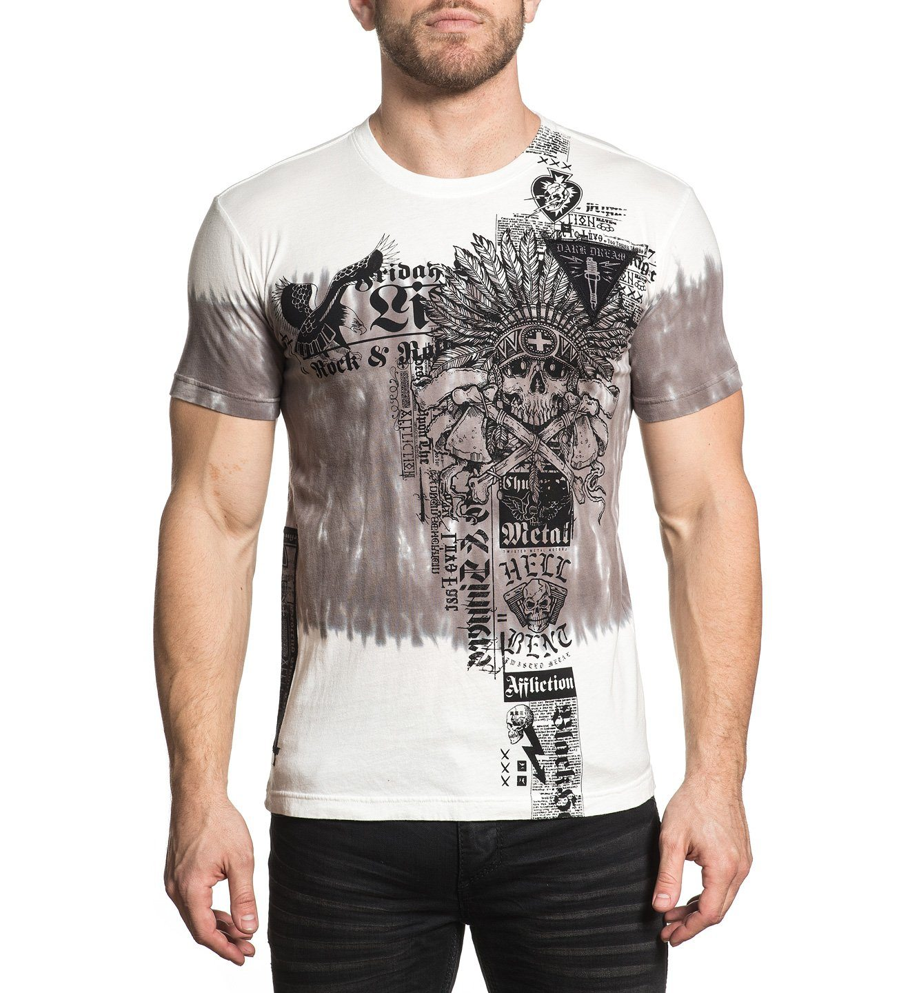 Damage Case - Mens Short Sleeve Tees - Affliction Clothing