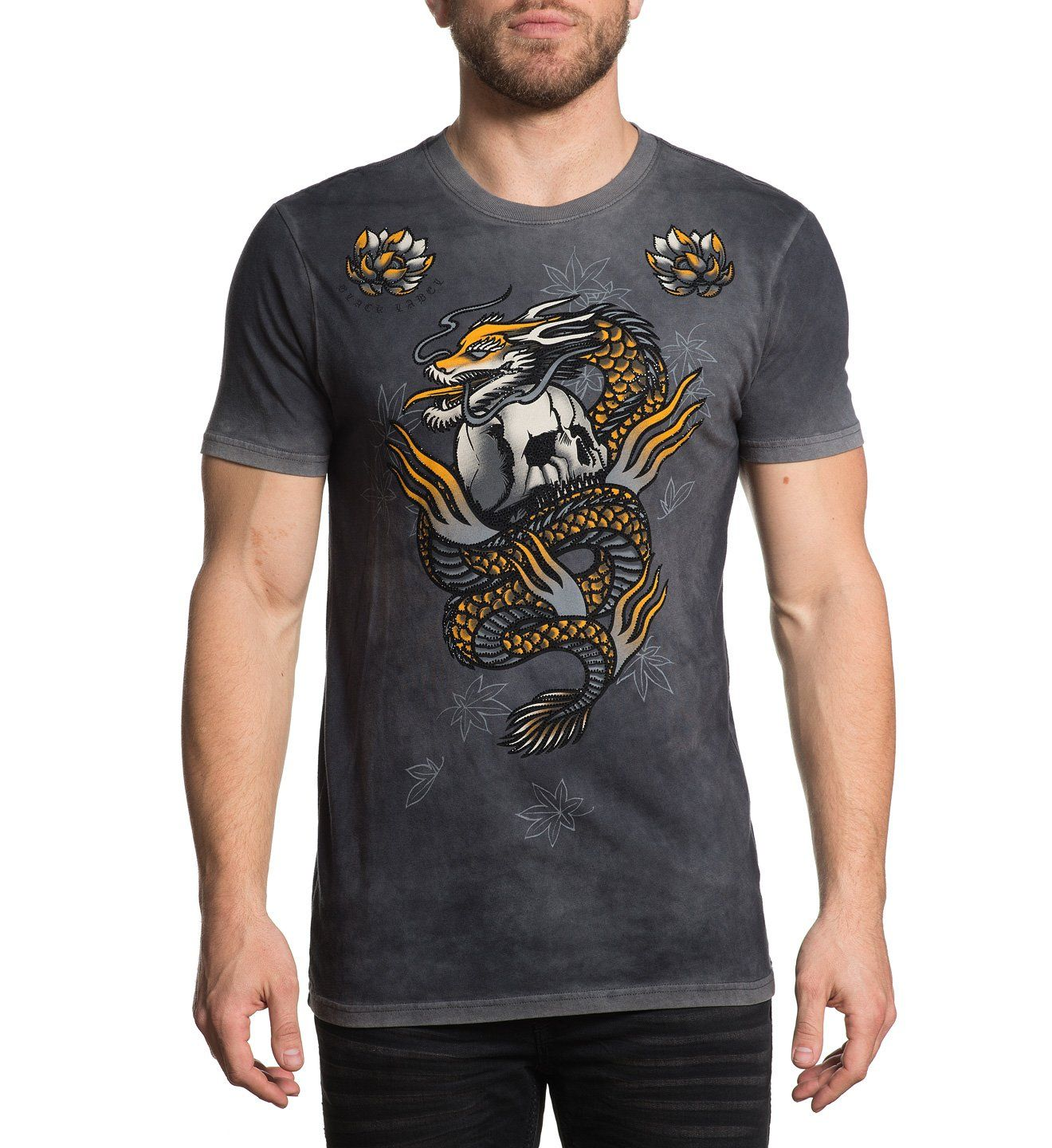 Mens Short Sleeve Tees - Dragon Fire