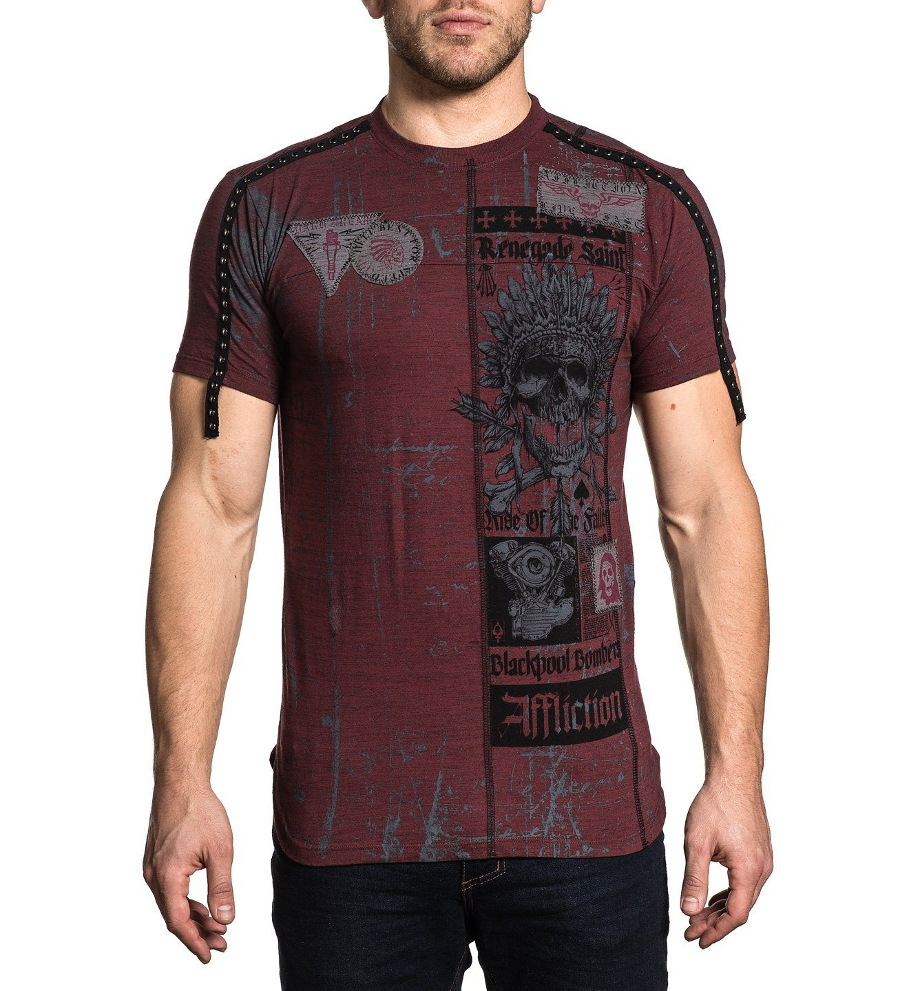 Falling - Mens Short Sleeve Tees - Affliction Clothing