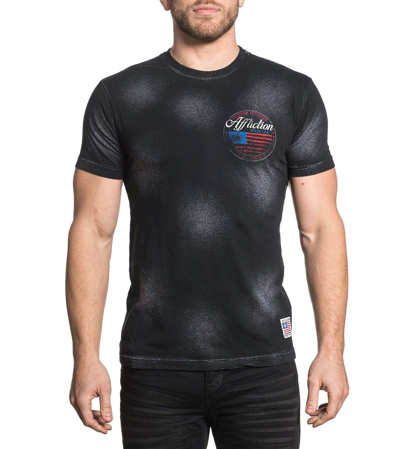 Flag Of Freedom - Mens Short Sleeve Tees - Affliction Clothing