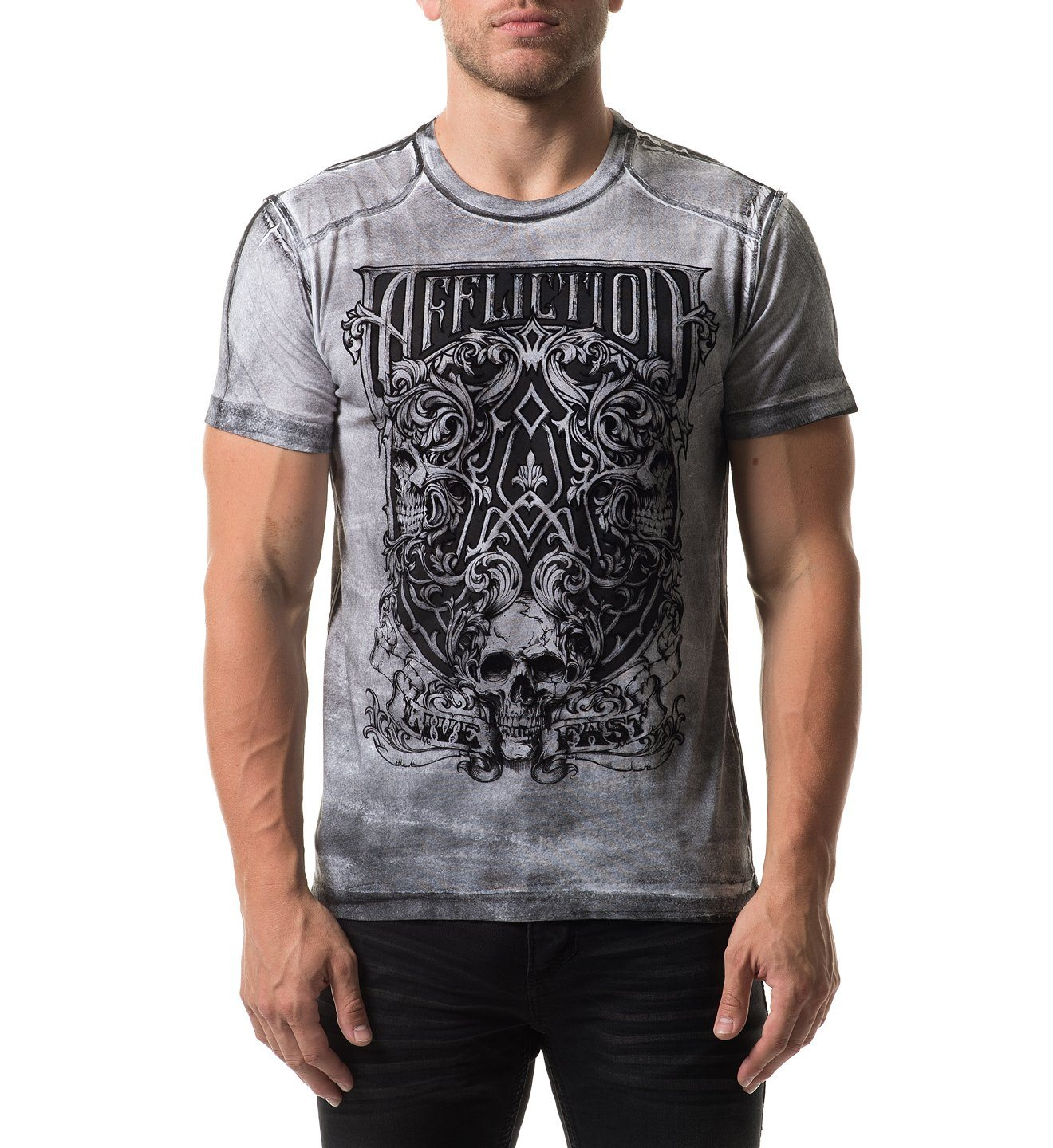 Framing Death - Mens Short Sleeve Tees - Affliction Clothing