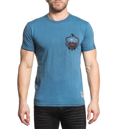 Hallowed Ground - Reversible - Mens Short Sleeve Tees - Affliction Clothing