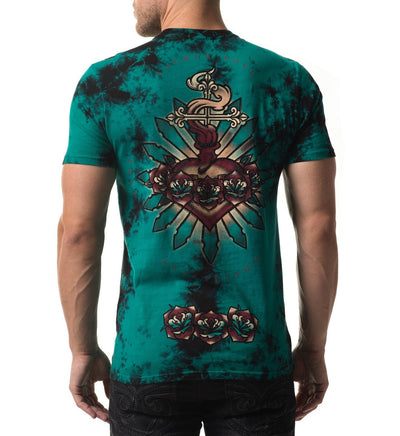 Mens Short Sleeve Tees - Hearts Afire