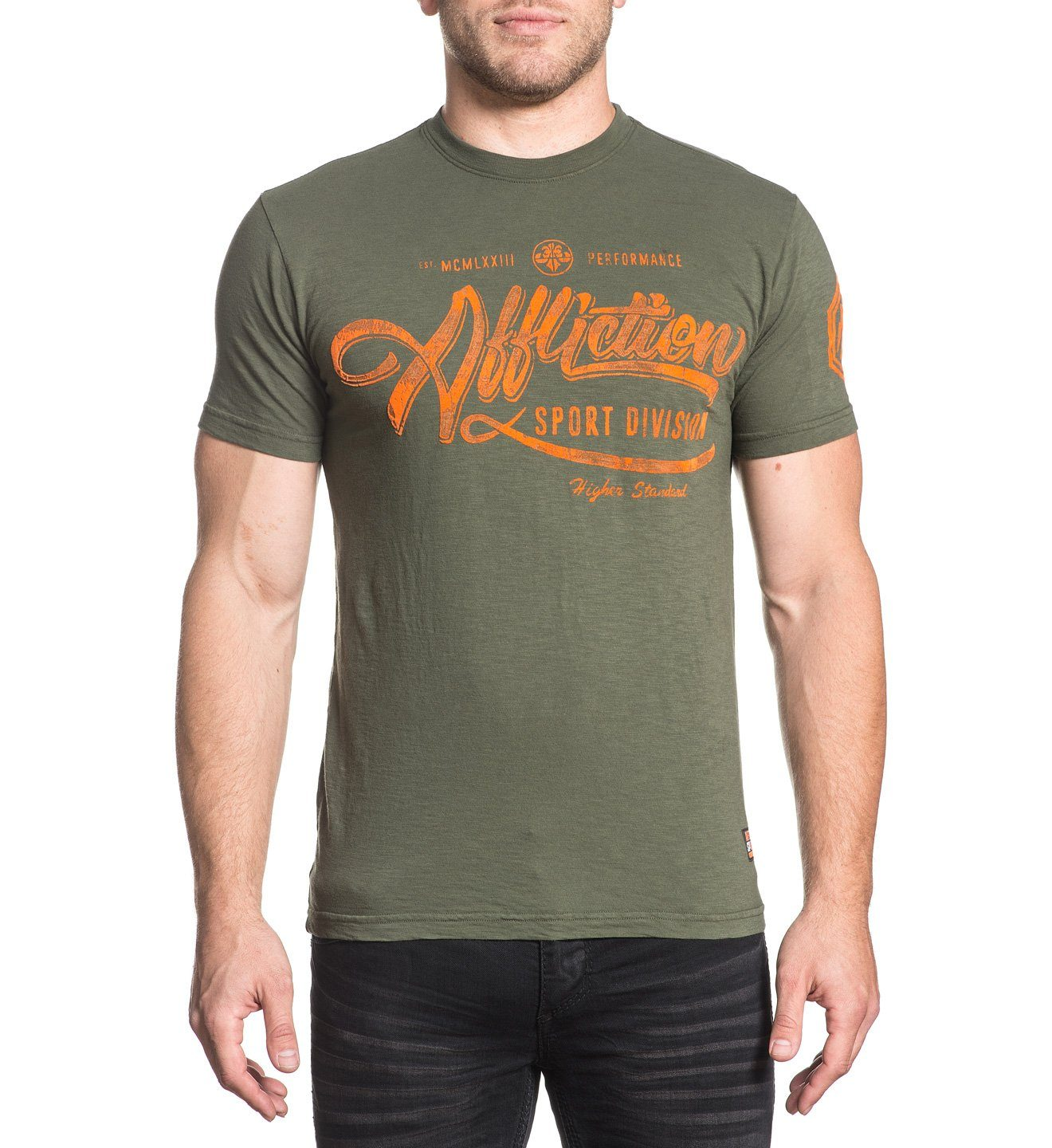 Higher Standard Script - Mens Short Sleeve Tees - Affliction Clothing