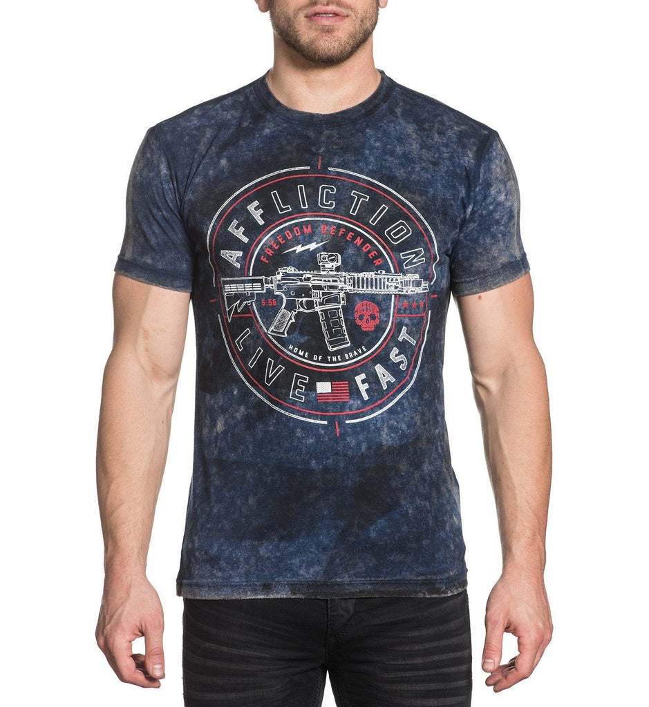 Mens Short Sleeve Tees - Live Fast