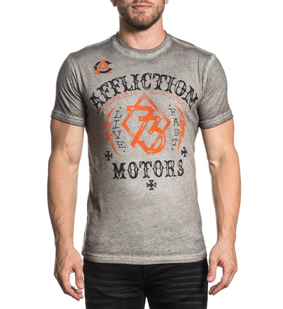 Live Fast Motors - Mens Short Sleeve Tees - Affliction Clothing