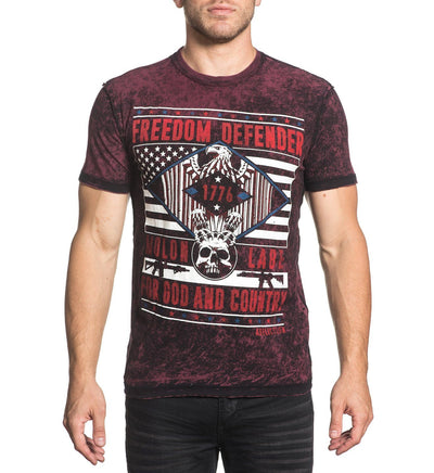 Molon Labe - Reversible - Mens Short Sleeve Tees - Affliction Clothing
