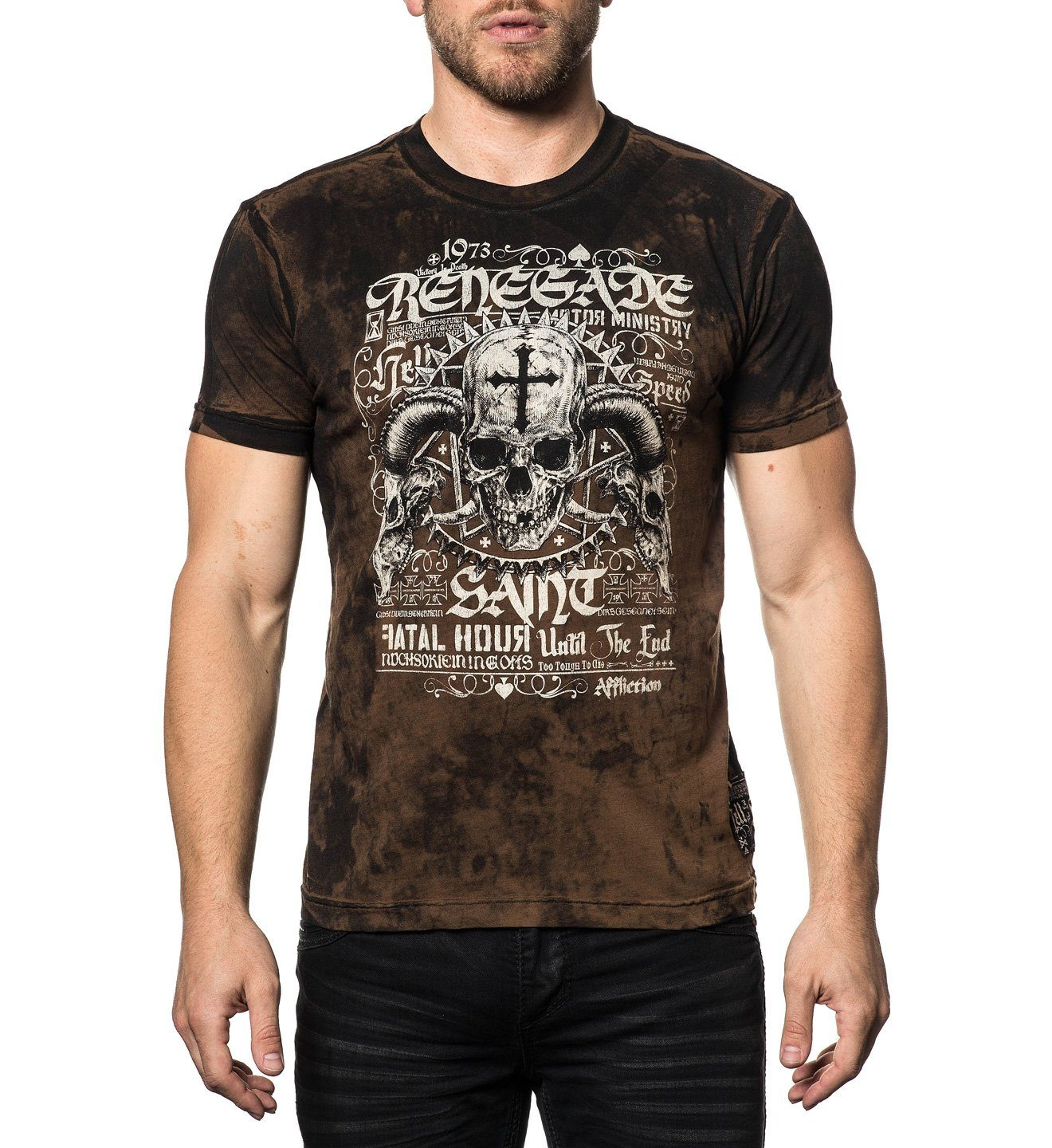 Motor Saint - Mens Short Sleeve Tees - Affliction Clothing