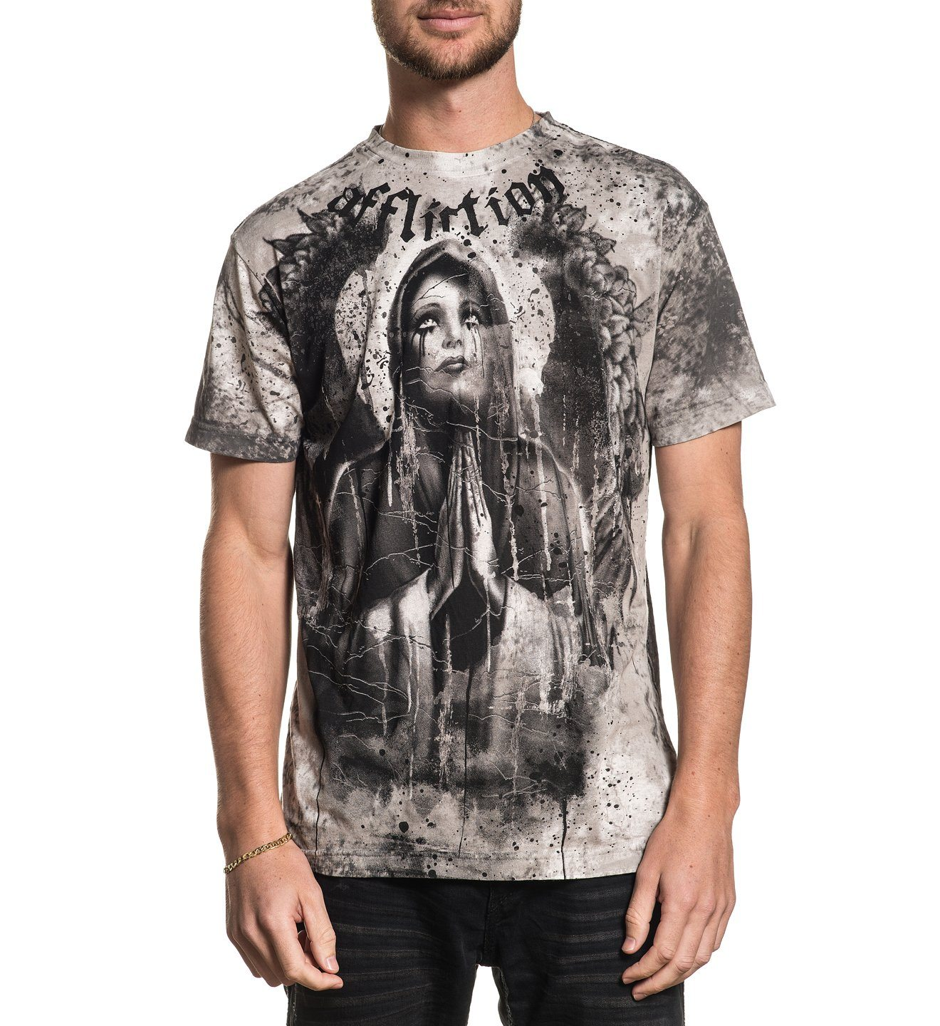 Mourning - Mens Short Sleeve Tees - Affliction Clothing