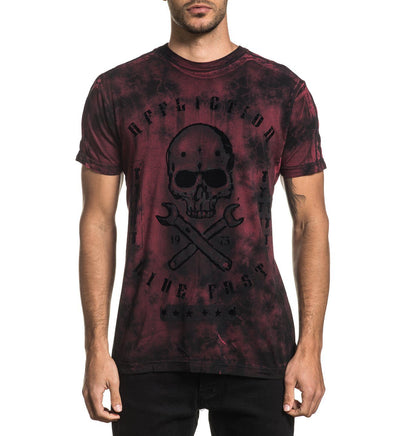 On The Tracks Dusk - Mens Short Sleeve Tees - Affliction Clothing