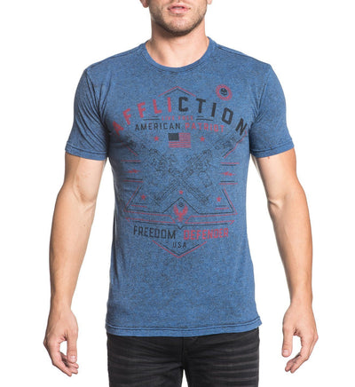 Patriot Arms - Reversible - Mens Short Sleeve Tees - Affliction Clothing