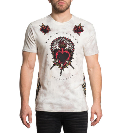Pierced Heart - Mens Short Sleeve Tees - Affliction Clothing