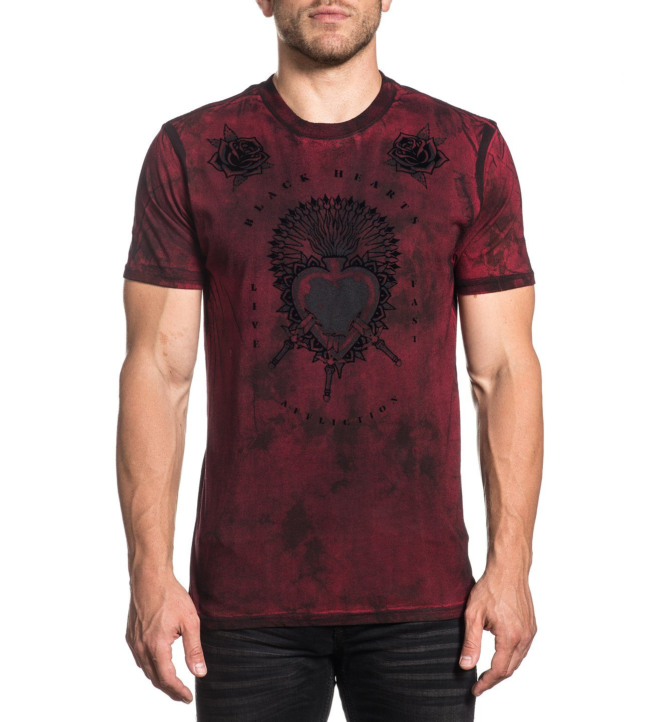 Pierced Heart Dusk - Mens Short Sleeve Tees - Affliction Clothing