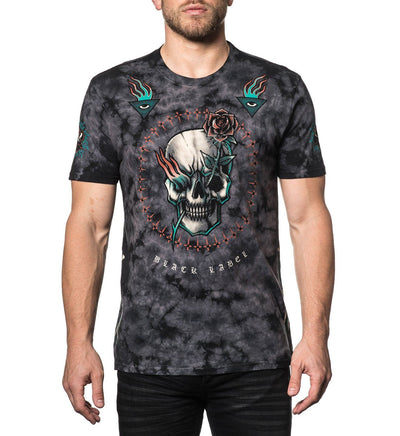 Pierced Rose - Mens Short Sleeve Tees - Affliction Clothing