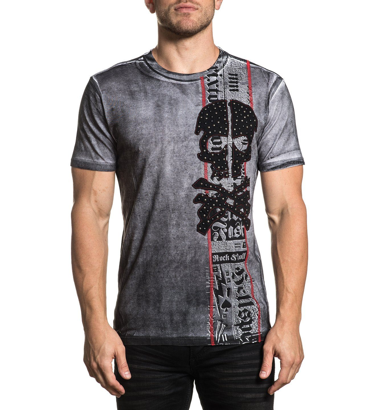 Power Supply - Mens Short Sleeve Tees - Affliction Clothing
