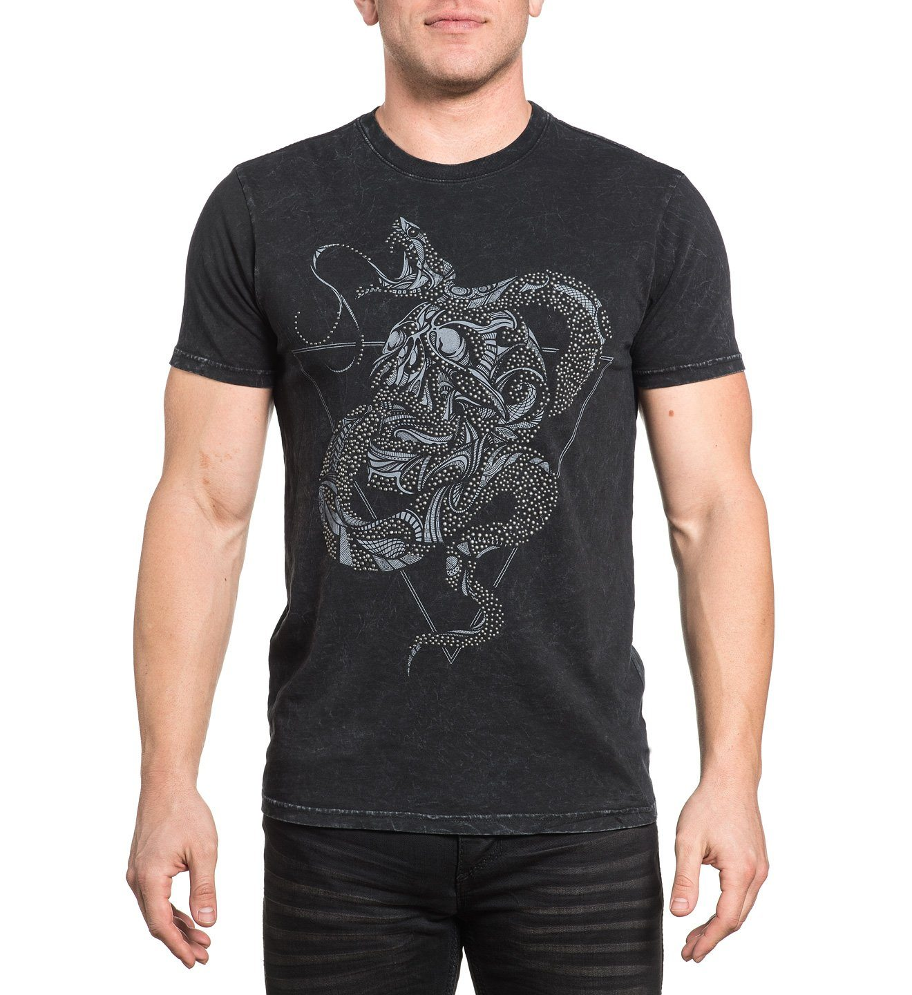 Serpentine Haze - Mens Short Sleeve Tees - Affliction Clothing