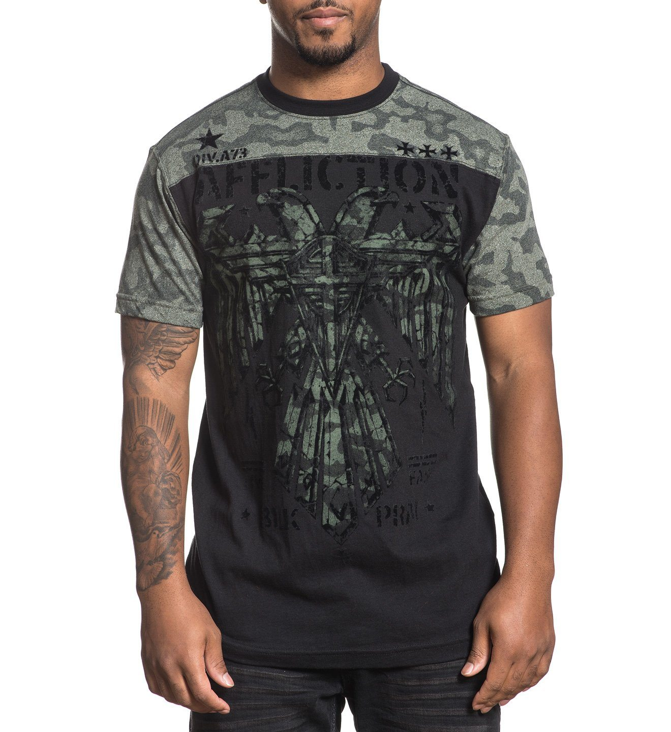 Mens Short Sleeve Tees - Silent Eagle