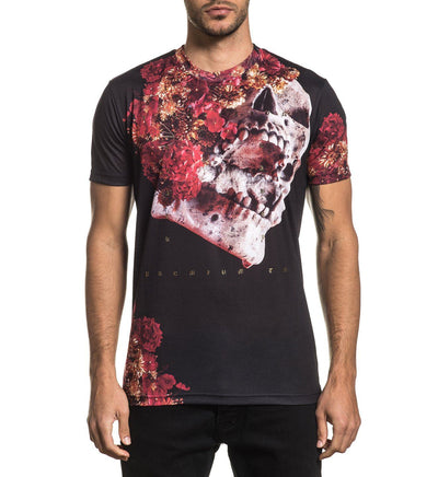 Skeleton Flower - Mens Short Sleeve Tees - Affliction Clothing
