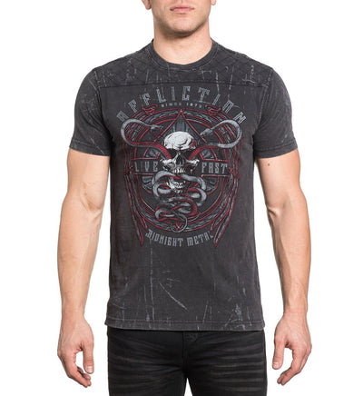 Mens Short Sleeve Tees - Temple Viper