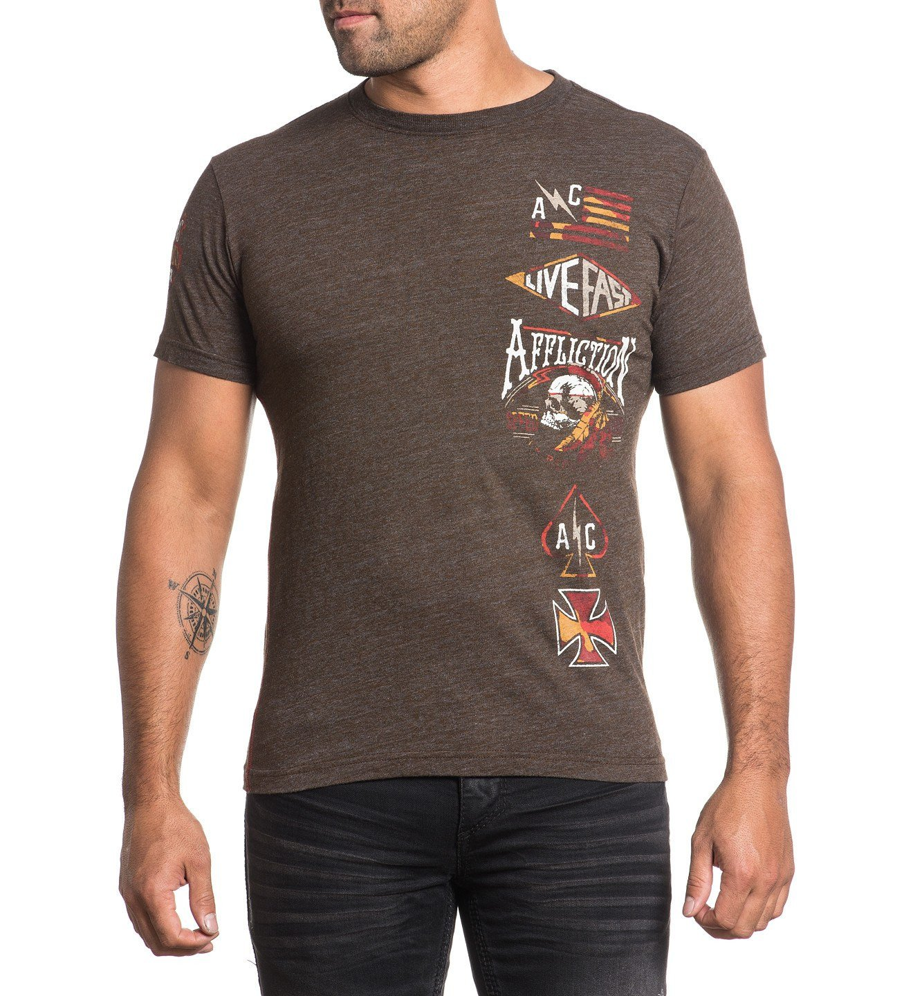 Thunder Shop - Mens Short Sleeve Tees - Affliction Clothing