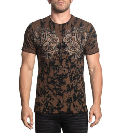 Mens Short Sleeve Tees - Tiger Rose