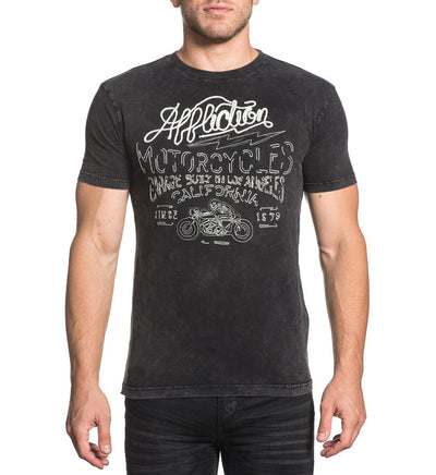 Mens Short Sleeve Tees - Twisted Speed Stitch