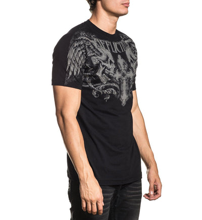 Winged Up - Mens Short Sleeve Tees - Affliction Clothing