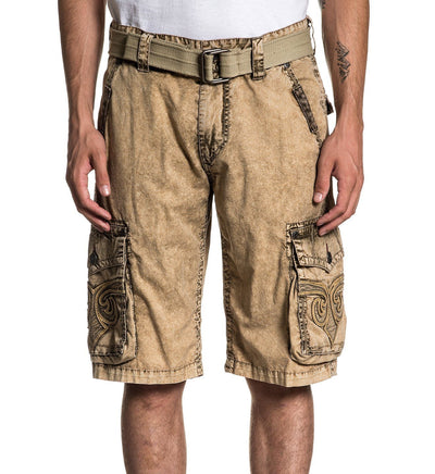 Revival Cargo Short - Mens Shorts And Boardshorts - Affliction Clothing